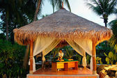 Massage in tropical spa. — Foto de Stock