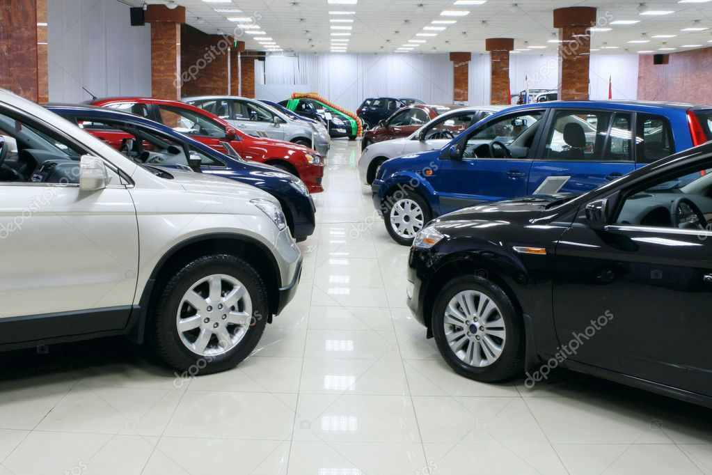 New fuel efficient SUV's on a car dealers lot for sale. — Stock Photo #3251964