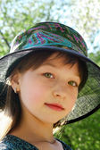 Ruddy girl in a hat — Foto de Stock