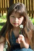 Rural girl — Stock Photo
