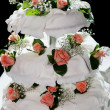 Three tiered wedding cake — Stock Photo