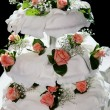 Three tiered wedding cake - Stock Photo