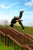 Parkour Jump. — Stock Photo