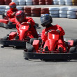 Foto Stock: Go cart race