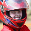 Smiling young racer — Stock Photo