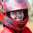 Smiling young  racer - Stock Photo