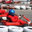 Go cart race - Stock Photo
