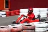 Go cart race — Stock Photo
