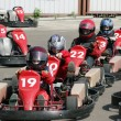 Start. Go-Kart racing for kids — Stock Photo
