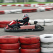 Young racer on circuit — Stock Photo #3470997