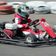 Young  racer on circuit - Zdjcie stockowe