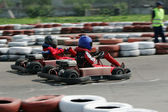 Young Racers On Circuit — Stock Photo