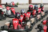 Start. Go-Kart racing for kids — Stock Photo