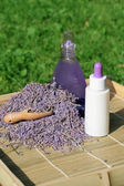 Lavender essential oil and gel — Stock Photo
