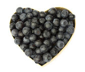 Blueberry heart — Stock Photo