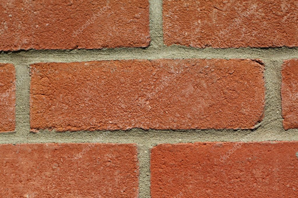 Closeup of red brick wall suitable as background. — Stock Photo #2919151