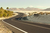 Winding Road in Desert — Stock Photo