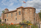 Norman Castle in Colchester in spring — Stock Photo