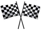 Dvojité vlajka — Stock fotografie