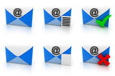 E-mail set — Stock Photo