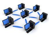 Network, left — Stock Photo