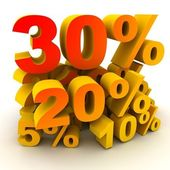 Percent 30 — Stock Photo