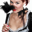 Girl in French maid — Stock Photo