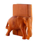 Wooden elephant bookend — Stock Photo