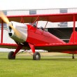 Red biplane — Stock Photo