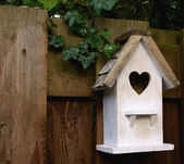 White birdhouse — Stock Photo