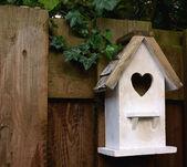 White birdhouse — Stock Photo