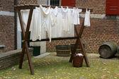 Torkning tvätt — Stockfoto