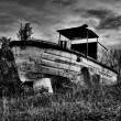 Old river boat — Stock Photo