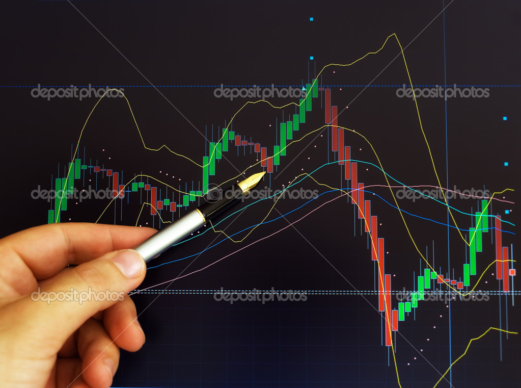 Conceptual image about stock exchange market and graph price analysis . — Stock Photo #2699299