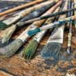 Painter&#039;s brushes - Stok fotoraf