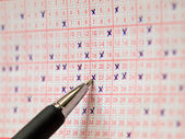 Lottery slip — Stock Photo