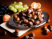 Autumnal table — Stock Photo
