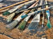 Painter's brushes — Stock Photo