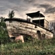 Old river boat - Stock Photo