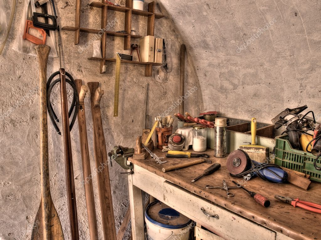 The place where someone can make  a wooden paddles or underwater spear guns.Toned HDR image. — Lizenzfreies Foto #2747945