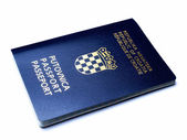 Croatian passport — Stock Photo