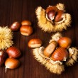 Sweet chestnuts — Stock Photo