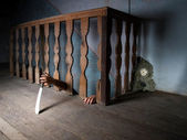 Killer in the basement — Stock Photo