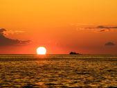 Pôr do sol de pesca — Foto Stock
