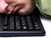 спать на работе — Стоковое фото