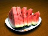 Sliced watermelon — Stock Photo