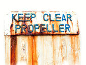 Keep clear propeller — Stockfoto
