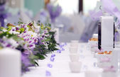 Catering arrangement of wedding — Stock Photo
