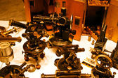 Group of old telescopes — Stock Photo