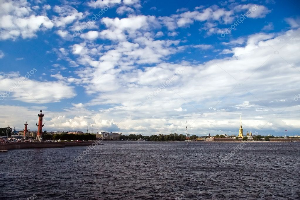 Saint-Petersburg Panorama. Vasilevsky island, Peter and Paul Fortress  Stock Photo #2854947